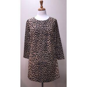 J. Crew Factory Leopard Animal Print Shift Dress